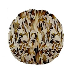 Floral Vintage Pattern Background Standard 15  Premium Round Cushions by Simbadda