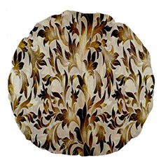 Floral Vintage Pattern Background Large 18  Premium Flano Round Cushions by Simbadda