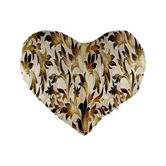 Floral Vintage Pattern Background Standard 16  Premium Flano Heart Shape Cushions by Simbadda