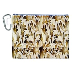 Floral Vintage Pattern Background Canvas Cosmetic Bag (xxl) by Simbadda