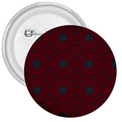 Blue Hot Pink Pattern With Woody Circles 3  Buttons by Simbadda