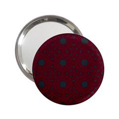 Blue Hot Pink Pattern With Woody Circles 2 25  Handbag Mirrors by Simbadda