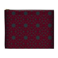 Blue Hot Pink Pattern With Woody Circles Cosmetic Bag (xl) by Simbadda