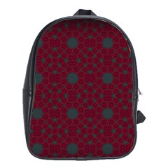 Blue Hot Pink Pattern With Woody Circles School Bags(large)  by Simbadda