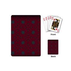 Blue Hot Pink Pattern With Woody Circles Playing Cards (mini)  by Simbadda