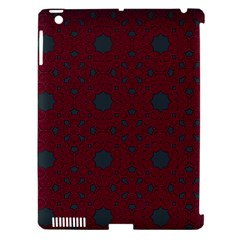 Blue Hot Pink Pattern With Woody Circles Apple Ipad 3/4 Hardshell Case (compatible With Smart Cover) by Simbadda