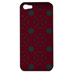 Blue Hot Pink Pattern With Woody Circles Apple Iphone 5 Hardshell Case by Simbadda