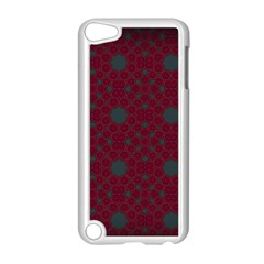 Blue Hot Pink Pattern With Woody Circles Apple Ipod Touch 5 Case (white) by Simbadda