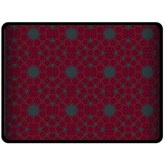 Blue Hot Pink Pattern With Woody Circles Double Sided Fleece Blanket (large)  by Simbadda