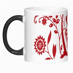 Red Vintage Floral Flowers Decorative Pattern Clipart Morph Mugs by Simbadda