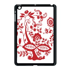 Red Vintage Floral Flowers Decorative Pattern Clipart Apple Ipad Mini Case (black) by Simbadda