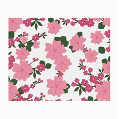 Vintage Floral Wallpaper Background In Shades Of Pink Small Glasses Cloth by Simbadda