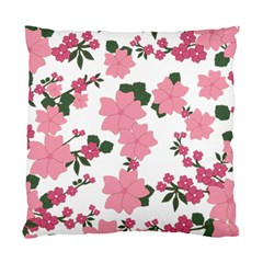 Vintage Floral Wallpaper Background In Shades Of Pink Standard Cushion Case (one Side) by Simbadda