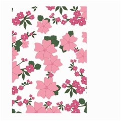 Vintage Floral Wallpaper Background In Shades Of Pink Large Garden Flag (two Sides) by Simbadda