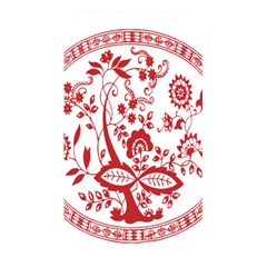 Red Vintage Floral Flowers Decorative Pattern Memory Card Reader by Simbadda