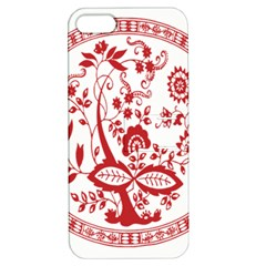 Red Vintage Floral Flowers Decorative Pattern Apple Iphone 5 Hardshell Case With Stand by Simbadda