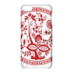 Red Vintage Floral Flowers Decorative Pattern Apple Ipod Touch 5 Hardshell Case With Stand by Simbadda