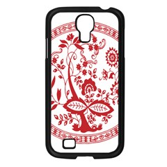 Red Vintage Floral Flowers Decorative Pattern Samsung Galaxy S4 I9500/ I9505 Case (black) by Simbadda