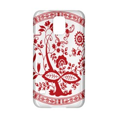 Red Vintage Floral Flowers Decorative Pattern Samsung Galaxy S5 Hardshell Case  by Simbadda