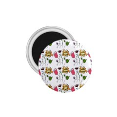 Handmade Pattern With Crazy Flowers 1 75  Magnets by Simbadda