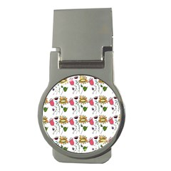 Handmade Pattern With Crazy Flowers Money Clips (round)  by Simbadda