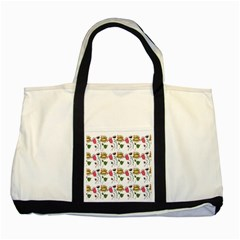 Handmade Pattern With Crazy Flowers Two Tone Tote Bag by Simbadda