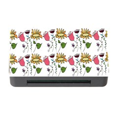 Handmade Pattern With Crazy Flowers Memory Card Reader With Cf by Simbadda