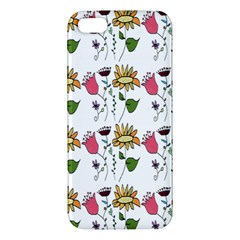 Handmade Pattern With Crazy Flowers Apple Iphone 5 Premium Hardshell Case by Simbadda