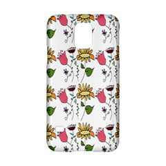 Handmade Pattern With Crazy Flowers Samsung Galaxy S5 Hardshell Case  by Simbadda