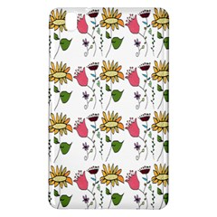 Handmade Pattern With Crazy Flowers Samsung Galaxy Tab Pro 8 4 Hardshell Case by Simbadda
