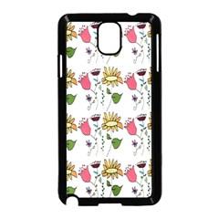 Handmade Pattern With Crazy Flowers Samsung Galaxy Note 3 Neo Hardshell Case (black) by Simbadda
