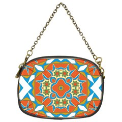 Digital Computer Graphic Geometric Kaleidoscope Chain Purses (one Side)  by Simbadda