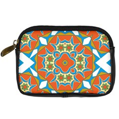 Digital Computer Graphic Geometric Kaleidoscope Digital Camera Cases by Simbadda
