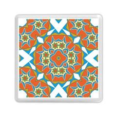 Digital Computer Graphic Geometric Kaleidoscope Memory Card Reader (square)  by Simbadda