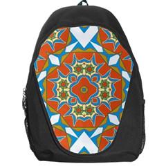Digital Computer Graphic Geometric Kaleidoscope Backpack Bag by Simbadda