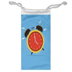 Alarm Clock Weker Time Red Blue Jewelry Bag by Alisyart