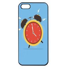 Alarm Clock Weker Time Red Blue Apple Iphone 5 Seamless Case (black) by Alisyart