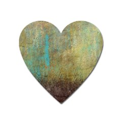 Aqua Textured Abstract Heart Magnet by theunrulyartist