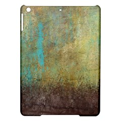 Aqua Textured Abstract Ipad Air Hardshell Cases by theunrulyartist