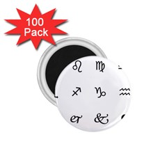 Set Of Black Web Dings On White Background Abstract Symbols 1 75  Magnets (100 Pack)  by Amaryn4rt