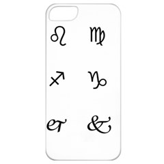 Set Of Black Web Dings On White Background Abstract Symbols Apple Iphone 5 Classic Hardshell Case by Amaryn4rt