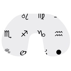 Set Of Black Web Dings On White Background Abstract Symbols Travel Neck Pillows by Amaryn4rt