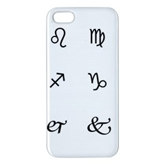 Set Of Black Web Dings On White Background Abstract Symbols Iphone 5s/ Se Premium Hardshell Case by Amaryn4rt