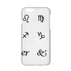Set Of Black Web Dings On White Background Abstract Symbols Apple Iphone 6/6s Hardshell Case by Amaryn4rt