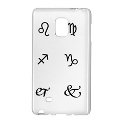 Set Of Black Web Dings On White Background Abstract Symbols Galaxy Note Edge by Amaryn4rt