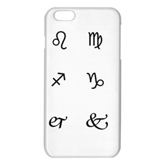 Set Of Black Web Dings On White Background Abstract Symbols Iphone 6 Plus/6s Plus Tpu Case by Amaryn4rt