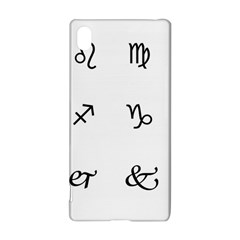 Set Of Black Web Dings On White Background Abstract Symbols Sony Xperia Z3+ by Amaryn4rt