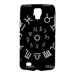 Astrology Chart With Signs And Symbols From The Zodiac Gold Colors Galaxy S4 Active by Amaryn4rt
