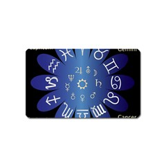 Astrology Birth Signs Chart Magnet (name Card) by Amaryn4rt