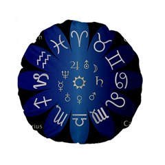 Astrology Birth Signs Chart Standard 15  Premium Round Cushions by Amaryn4rt
